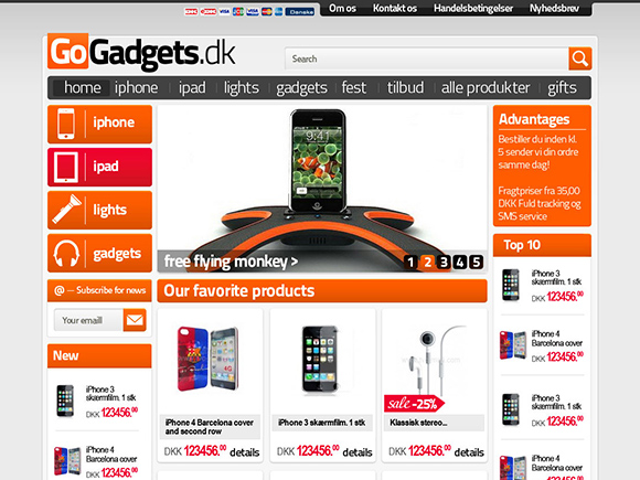 Gadgets and electronics Magento store